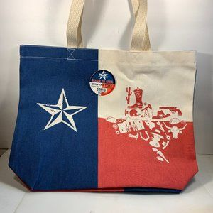 Texas State Canvas Tote Bag Boots Alamo Oil Rig